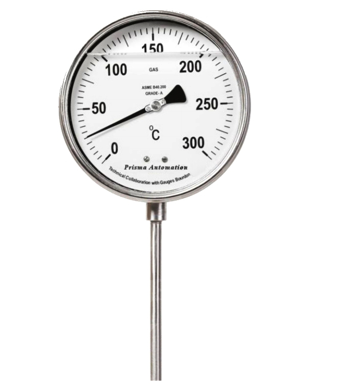 Gas Filled Dial Thermometer on Liquid Filled Pressure Gauge