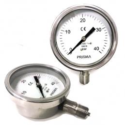 Stainless Steel Bourdon Pressure Gauge - 100 150 250 mm - Prisma